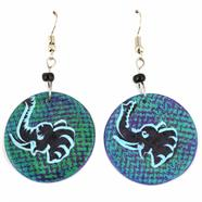 Soapstone Round Animal Earrings