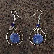 Stone Circle Earrings