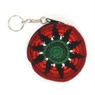 Mini Round Crochet Keyring Purse