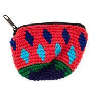 Mini Half Moon Crochet Purse