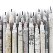 Newspaper Pencils - Ribbon
