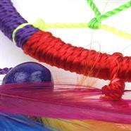 Small Bright Rainbow Dreamcatcher