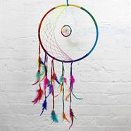 Large Rainbow Moon Dreamcatcher