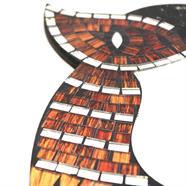 Small Owl Mosaic Mirror