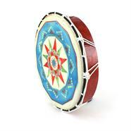 Medium Painted Shamanic Drum