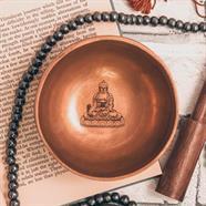 Fine Etched Buddha Bowl