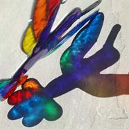 Rainbow Hummingbird Suncatcher
