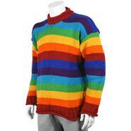 Woollen Rainbow Stripy Jumper