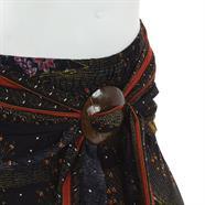 Peacock Print Coco Buckle Skirt