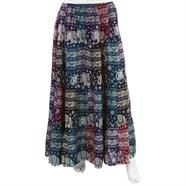 Elephant Print Patch Skirt