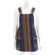 Larger Thai Weave Dungaree Dress