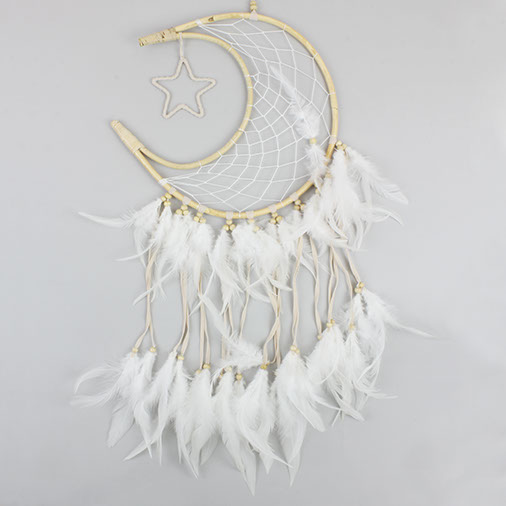 Rattan Crescent Moon Dreamcatcher