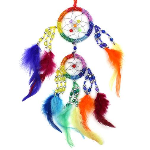 Rainbow Beaded Dreamcatcher