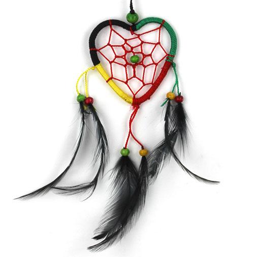 Rasta Heart Dreamcatcher