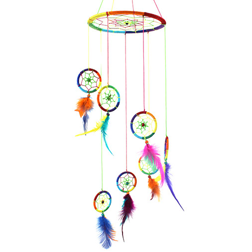 Rainbow Dreamcatcher Mobile