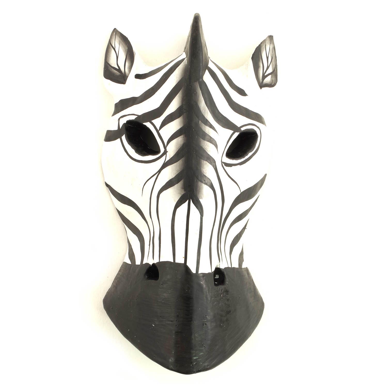 Zebra Mask 15cm