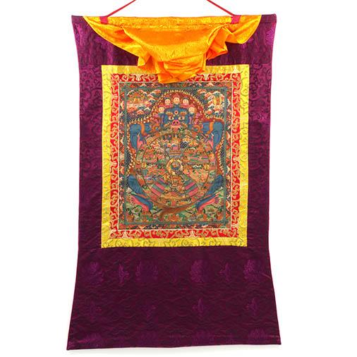 Buddhist Wheel of Life Thanka No 4