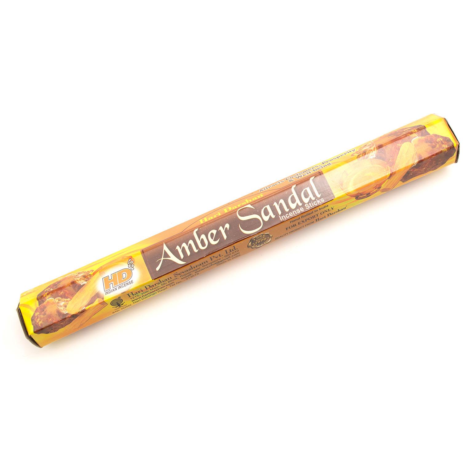 Amber Sandal Hexagon Incense