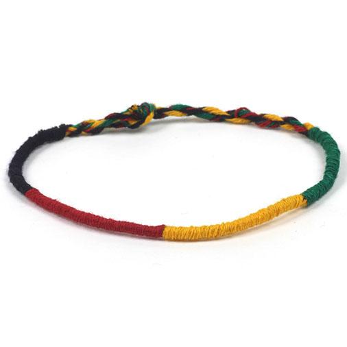 Round Rasta Friendship Bracelet
