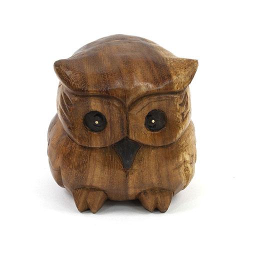 Medium Plump Owl Carving