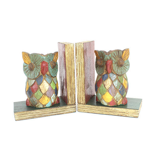 Rustic Owl Bookends