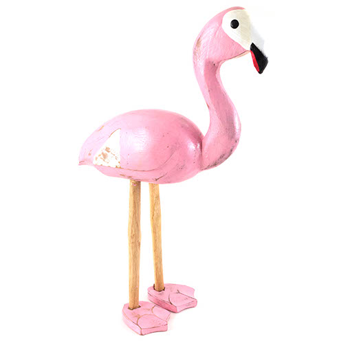Carved Pink Flamingo