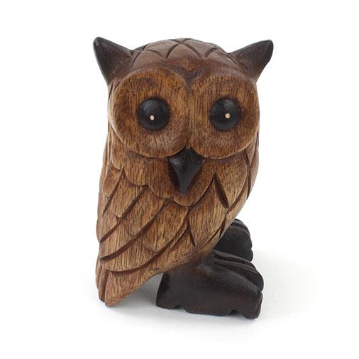 Medium Carved Owl