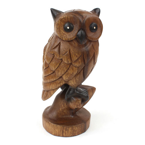Carved Owl on Branch