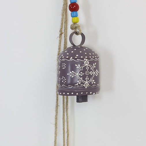 Set Of Colourful Indian Bells On Rope