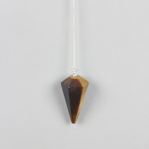 Faceted Tigers Eye Pendulum