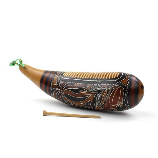 Traditional Gourd Güiro & Shaker