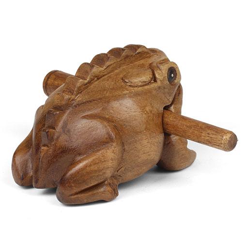 Fair Trade Wooden Frog G 252 Iro Scraper Musical Instrument