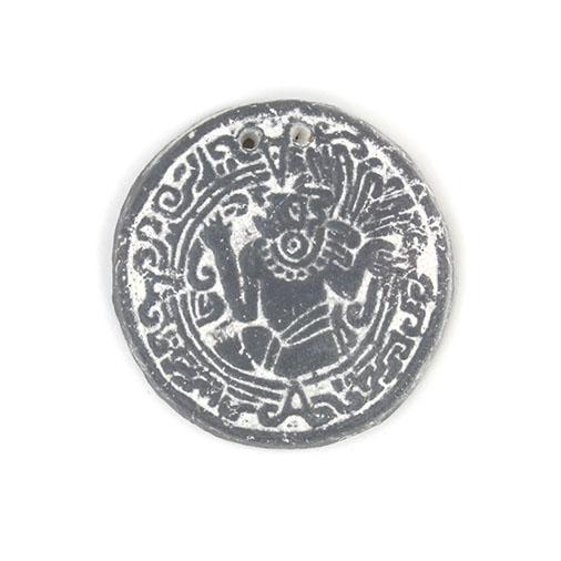 Round Mayan Pendant