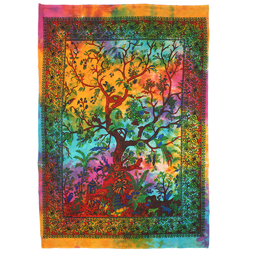 Tree Of Life Wall Hanging Tapestry Handmade Fair Trade