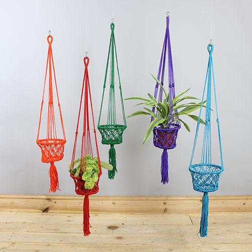 Bright Macrame Plant Hanger
