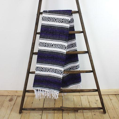 Mexican Falsa Blanket Traditional Serape Cobijas Handmade