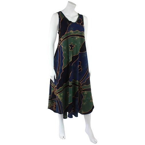Balinese Batik Long Dress Handmade Fair Trade Dresses From