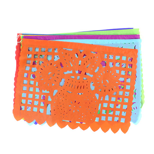 Papel Picado Tissue Flower Bunting