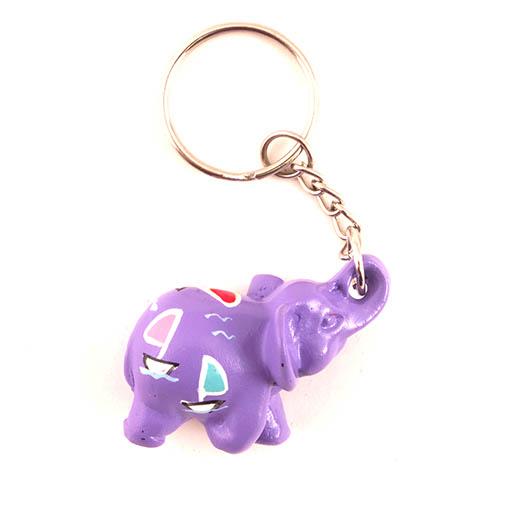 Mini Painted Elephant Keyring
