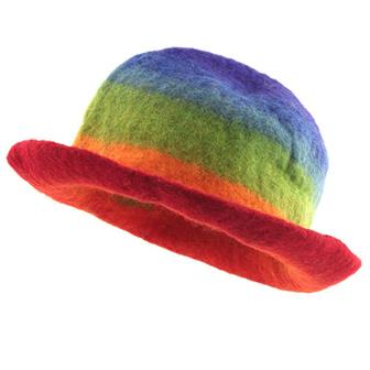 Rainbow Felt Hat