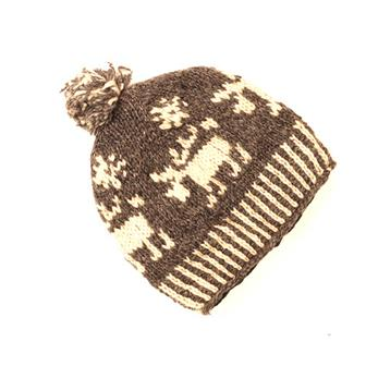 Reindeer Knitted Wool Hat