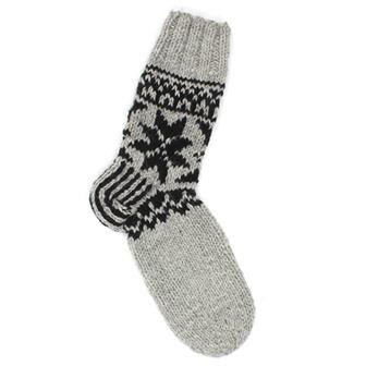 Grey & Black Woollen Socks
