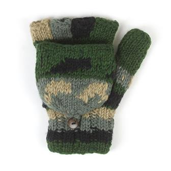 Mixed Gloves with Mitten Flap