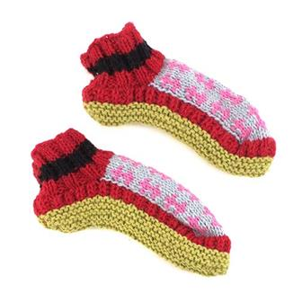 Mixed Woollen Slippers