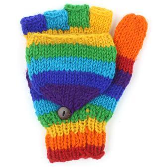 Rainbow Flap Gloves
