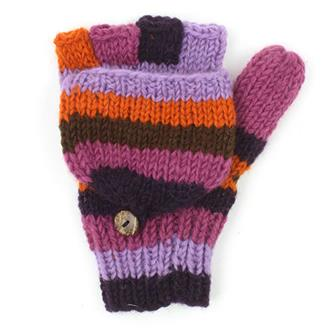 Warm Purple Flap Gloves