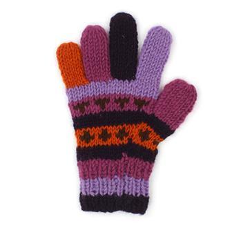 Warm Purple Woollen Gloves