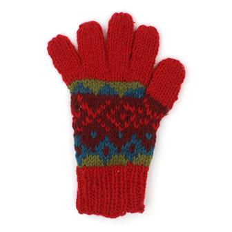 Festive Knit Wool Gloves