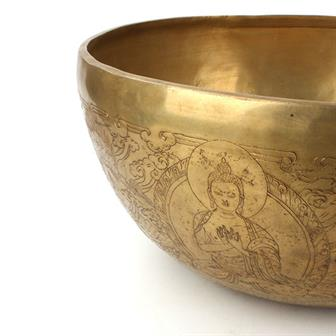 Buddha and Shakti Artisan Singing Bowl