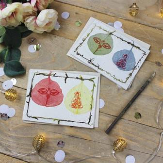 Bodhi Leaf Lokta Cards